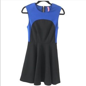 Blue and black dress, medium